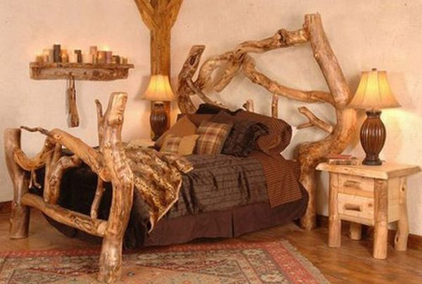 Furniture Rustic Wood Bed Headboards With Mantel Having: 12 Most Creative And Unusual Beds